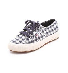 superga checker sneakers.