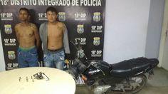 Jovens infratores/presos/assaltos/bairro Colônia Terra Nova Policiais da 18ª Companhia Interativa Comunitária (18ª CICOM) prenderam na tarde desta segunda-feira (13), por volta das 13h, dois jovens acusados de praticar assaltos e arrastões em bairros da zona norte de Manaus. De acordo com o Sargento PM Manoel Lopes, uma denúncia anônima foi enviada, dando conta de que dois homens estavam praticando assaltos no bairro Colônia Terra Nova, em uma motocicleta modelo Honda Fan 125, cor preta e…