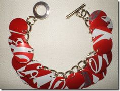 what a super cute idea - coke can jewelry!