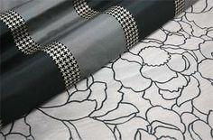 Duralee black and white fabrics