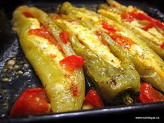 Tomato & Feta Stuffed Peppers (I'd use goat cheese).  Actually, either.  And maybe add some olives.