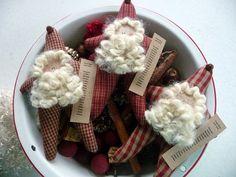 Primitive Santa ornie tuck bowl filler by ahlcoopedup on Etsy