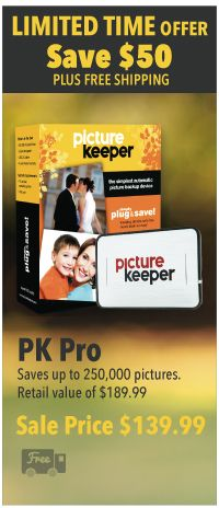 I use picture keeper as one of my back-ups. It's easy to use...try one!  Contact me to get you set up to preserve those photo memories.