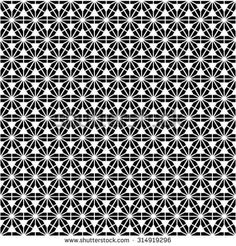 Black and white geometric seamless pattern with triangles, abstract background, vector.
