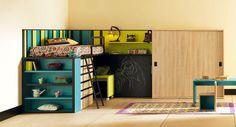 Life box 06. Habitación infantil con litera y cama abatible