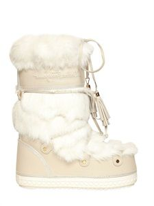 SALVATORE FERRAGAMO - 50MM REMBRANDT SUEDE AND SHEARLING BOOTS - LUISAVIAROMA - LUXURY SHOPPING WORLDWIDE SHIPPING - FLORENCE