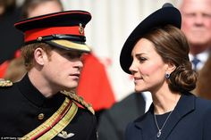 Prince Harry with his sister-n-law Catherine, Duchess of Cambridge