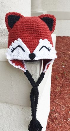 Fox hat using pattern from Ira Rott.