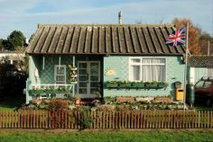 another tiny cottage on the Fitties at Cleethorpes been building them tiny for 60 or more years Holiday Park, Beach Shack, Holiday Destinations, East Coast, Gazebo, Scenery, Cottage, Outdoor Structures, House Styles