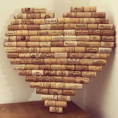 Heart shaped cork memo board made of recycled wine corks. Ideal decoration for Heart shaped cork memo board made of recycled wine corks. Ideal decoration for …Heart shaped cork memo board made from recycled wine corks. Ideal decoration for a kitchen or Wine Craft, Wine Cork Crafts, Wine Bottle Crafts, Diy Cork, Cork Heart, Wine Cork Art, Wine Cork Boards, Wine Cork Holder, Wine Cork Ornaments