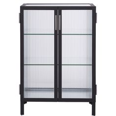 odean small glass cabinet | CB2
