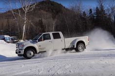 The Ford F-450 dually is in no way, shape, or form designed to drift. It's built to keep that wide rear end stable and straight, even when those rear rims and tires somehow manage to lose grip. Discount Wheels www.wheelhero.com