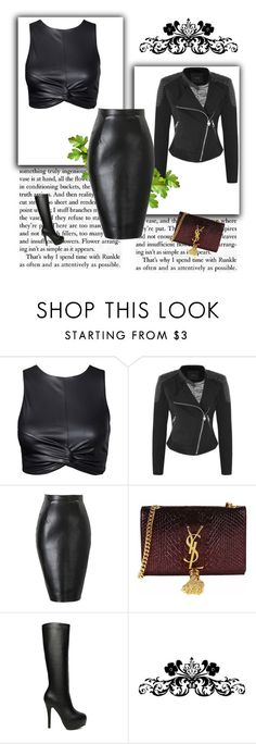 """""""Lejla"""" by lejla-cergic ❤ liked on Polyvore featuring мода, GUESS и Yves Saint Laurent"""