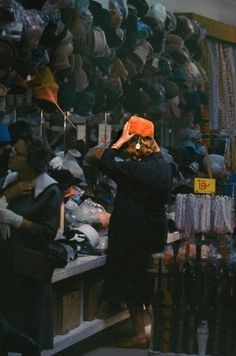 Buying a Hat, 1959 by Fred Herzog, Vancouver Canada photographer.