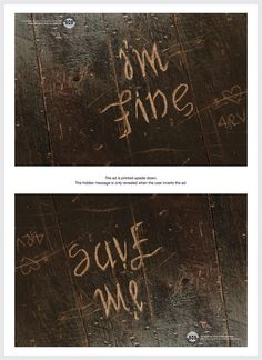 Not being dramatic - I just think this is cool. Depression Awareness Ads Reveal Cry For Help When Viewed Upside Down Sad Quotes, Life Quotes, Depression Awareness, Signs Of Depression, Depression Help, Tattoos For Depression, Depression Quotes, Cry For Help, Inspirational Quotes