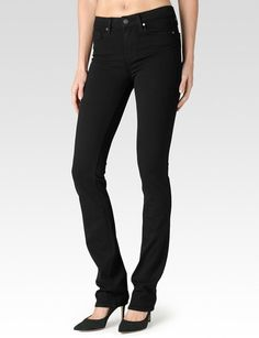 PAIGE® | Hoxton Straight Leg Jeans in Black Shadow