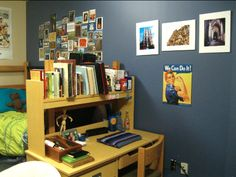Dormspiration: 3 Amazing Real-Life Dorms and the Inspiration Behind Them | College Fashion -I love the desk position there!!