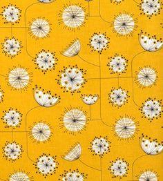 mid century-ish yellow flower print