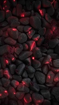 Red Neon Stones IPhone Wallpaper - IPhone Wallpapers