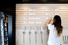 Beautiful Faculty Brewing Co. is a brewery and tasting lounge located in Vancouver BC. Tap Handle design by Tom Chung. Photography by Alison Page. Beer Brewery, Home Brewing Beer, Brewing Co, Speisenkarten Designs, Brewery Interior, Menu Board Design, Beer Images, Vancouver, Bar