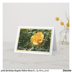 Shop Birthday Emily Yellow Rose Elegant Cursive Card created by Personalize it with photos & text or purchase as is! Classy 21st Birthday, Happy 35th Birthday, 30th Birthday Cards, 36th Birthday, Birthday Cards For Friends, Friend Birthday, Birthday Celebration, Birthday Ideas, Happy First Wedding Anniversary