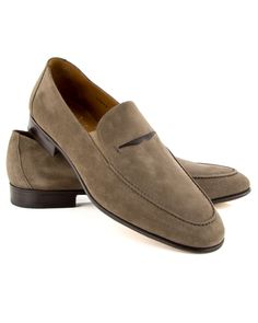 $438 Gravati Taupe Double Gore Suede Leather Penny Loafer Suede leather upper Traditional penny keeper slot at vamp Slip on Leather sole and insole Rounded toe Stacked heel Style: 19012 Made in Italy Suede Shoes, Loafer Shoes, Slip On Shoes, Men's Shoes, Shoe Boots, Shoes Men, Penny Loafers, Leather Loafers, Suede Leather