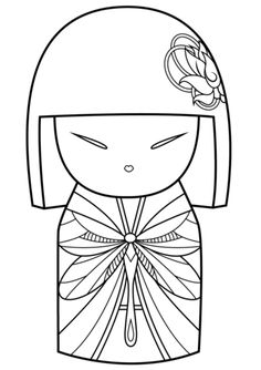 Japanese Dolls Coloring pages. Select from 31983 printable Coloring pages of cartoons, animals, nature, Bible and many more. Art Quilling, Quilling Patterns, Quilling Designs, Doll Patterns, Coloring Pages For Girls, Free Coloring Pages, Adult Coloring, Coloring Books, Matryoshka Doll