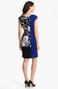 Maggy London Colorblock Print Sheath Dress | Nordstrom