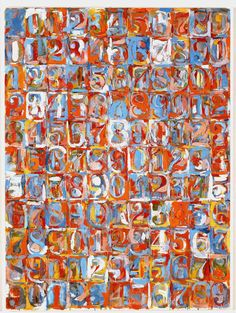 Jasper Johns, Numbers in Color, 1958–59