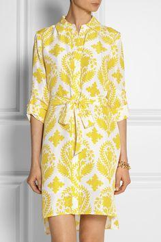 Diane von Furstenberg Vera printed silk-habotai shirt dress £310
