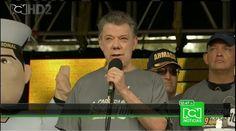 Rechifla a Presidente Juan Manuel Santos en Carrera de los Héroes.
