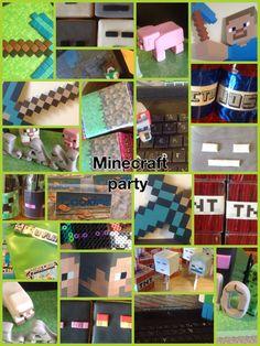 Preston's 7th birthday party- minecraft party