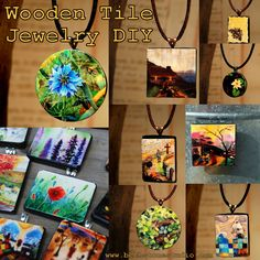 Wooden Tile Jewelry Tutorial (from Beth Stone Studio)