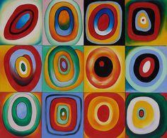 Farbstudie Quadrate by Wassily Kandinsky