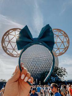 Disney Minnie Mouse Ears, Diy Disney Ears, Disney Diy, Walt Disney, Disney Land, Disney Ears Headband, Disney Headbands, Disney World Trip, Disney Trips