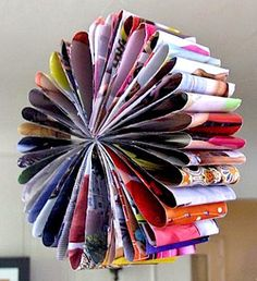 flower made from old magazines; found at Zakka Life