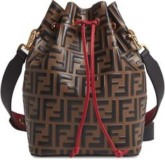 6005606a94fc44 Fendi Mon Tresor Logo Leather Bucket Bag Girls Bags, The Chic, Trendy  Outfits,