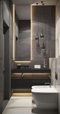 37 Modern Apartment Bathroom Designs Ideas For Men – Badezimmer Ideen Apartment Bathroom Design, Bathroom Layout, Modern Bathroom Design, Bathroom Interior Design, Bathroom Ideas, Bathroom Organization, Bathroom Renovations, Boho Bathroom, Remodel Bathroom