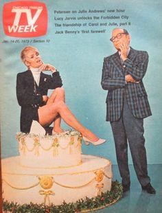 Joey Heatherton and Jack Benny Feb 1973 Joey Heatherton, Jack Benny, News Hour, Julie Andrews, Tv Guide, Movie Tv, Magazine Covers, Magazines, Movie Posters