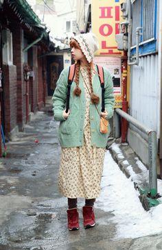 Filles Alternatives, Harajuku Fashion, Fashion Outfits, Mori Girl Fashion, Forest Girl, Mode Vintage, Alternative Outfits, Japanese Fashion, Street Style