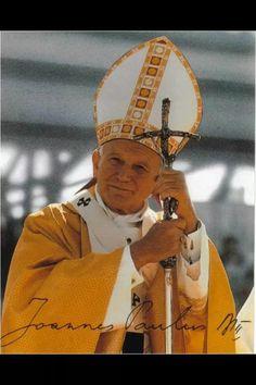 PAPA JUAN PABLO II...Bent cross is a satanic symbol!