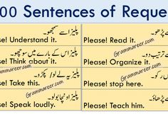 English Sentences   Urdu Sentences with English translation Make Sentences In English, English Word Book, English Learning Books, English Vocabulary Words, English Phrases, Learn English Words, English Lessons, Sentence Examples, Compliment Someone