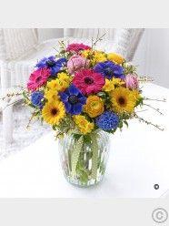 Vibrant Spring Vase