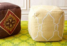 Surya Pouf...several in stock at BHD Interiors