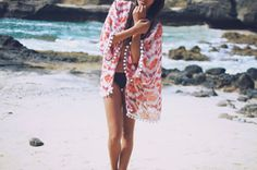 Tie Dye Beach Kimono