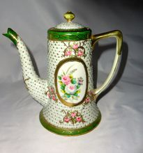 Sweet Little Nippon Hand Painted Moriage Rose Teapot