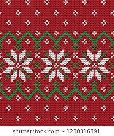 Imágenes similares, fotos y vectores de stock sobre knitted winter flower pattern vector knitwear pattern; Cross Stitch Boarders, Cross Stitch Bookmarks, Cross Stitch Designs, Cross Stitch Embroidery, Cross Stitch Patterns, Knitting Patterns, Hand Embroidery, Christmas Knitting, Christmas Cross