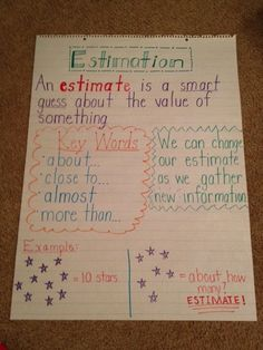 Estimation anchor chart