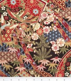 one of my favorite fabrics. geishas treasure, now discontinued. Textile Fabrics, Joann Fabrics, Quilting Fabric, Ethnic Patterns, Quilt Patterns, Asian Fabric, Background Patterns, Crafts To Make, Sewing Projects