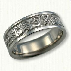 Details About Sterling Silver Dragon Phoenix Rings Wedding Band Set